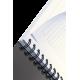 Kołonotatnik Leitz Office A5 PP, w linie - szaro-niebieski