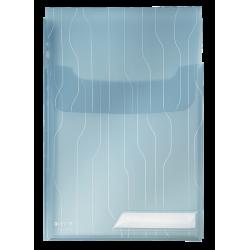 Folder Leitz Combifile poszerzany 3szt. - transparentny niebieski